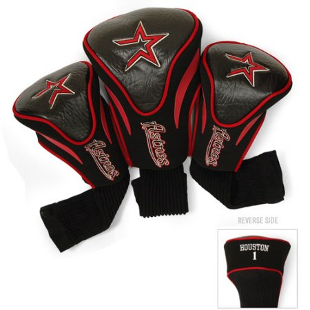 MLB Houston Astros 3 Pack Contour Head Covers