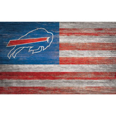 NFL Buffalo Bills 11'' x 19'' Distressed Flag Sign