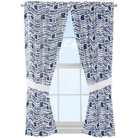 "NCAA North Carolina Tar Heels ""Anthem"" Window Curtain Panels - Set of 2 - 36"" x 48"""