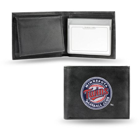 MLB Men's Minnesota Twins Embroidered Billfold Wallet