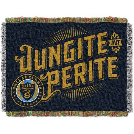 "MLS Philadelphia Union Handmade 48"" x 60"" Woven Tapestry Throw"