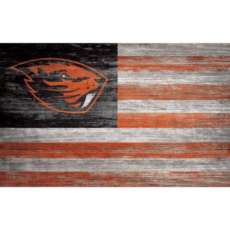 NCAA Oregon State Beavers 11'' x 19'' Distressed Flag Sign