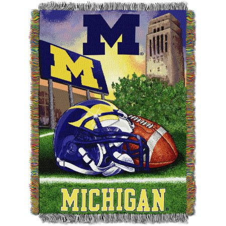 "NCAA 48"" x 60"" Tapestry Throw Home Field Advantage Series- Michigan"