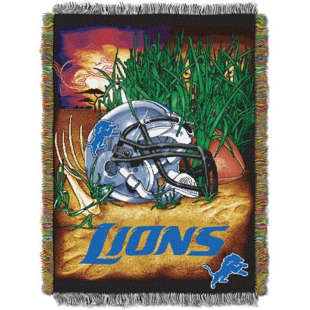 "NFL 48"" x 60"" Tapestry Throw Home Field Advantage Series- Lions"