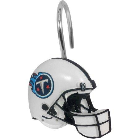 NFL Tennessee Titans Shower Curtain Hooks 12 Piece Set