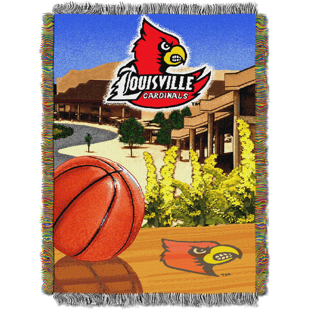 "NCAA 48"" x 60"" Tapestry Throw Home Field Advantage Series- Louisville"