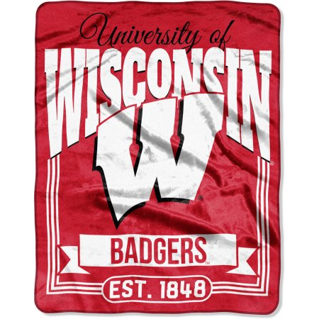 "NCAA Wisconsin Badgers ""Traction"" 55"" x 70"" Silk Touch Throw"