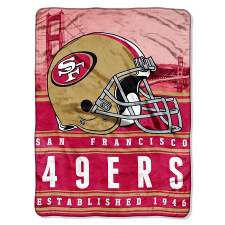 "NFL San Francisco 49ers ""Stacked"" 60"" x 80"" Silk Touch Throw"