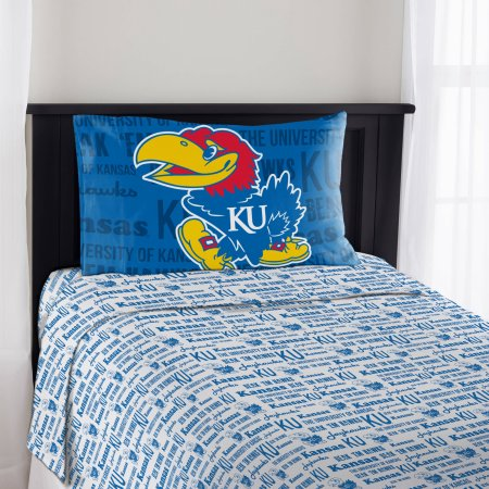 "NCAA Kansas Jayhawks ""Anthem"" Twin Sheet Set"