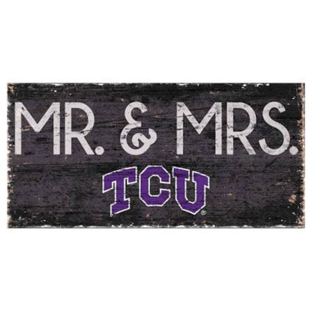 NCAA TCU Horned Frogs 6'' x 12'' Mr. & Mrs. Wedding Sign