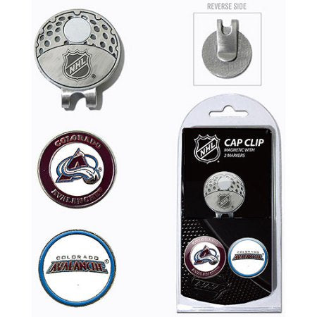 Team Golf NHL Colorado Avalanche Cap Clip With 2 Golf Ball Markers