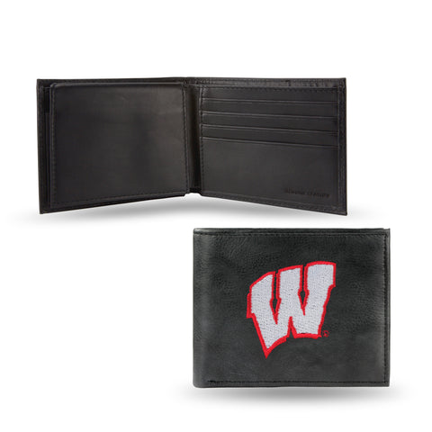 NCAA Men's Wisconsin Badgers Embroidered Billfold Wallet