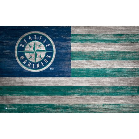 MLB Seattle Mariners 11'' x 19'' Distressed Flag Sign