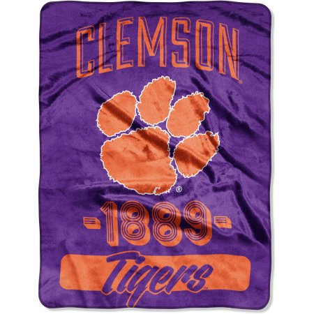 "NCAA Clemson Tigers ""Varsity"" 46"" x 60"" Micro Raschel Throw"