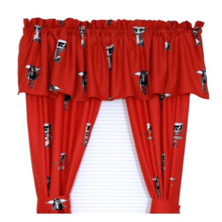 "NCAA Texas Tech Red Raiders 100% Cotton, 63"" Curtain Panels, Set of 2"