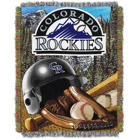 "MLB 48"" x 60"" Home Field Advantage Series Tapestry Throw, Rockies"