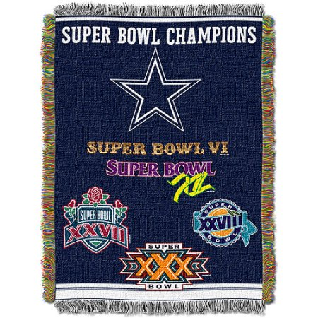 "NFL 48"" x 60"" Commemorative Series Tapestry Throw, Cowboys"
