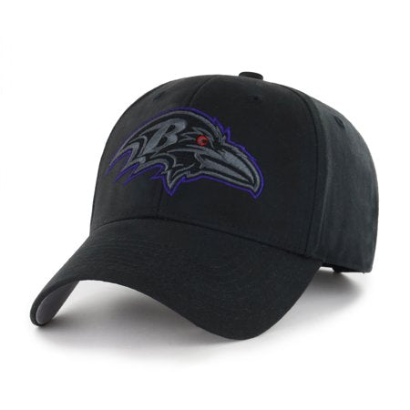 NFL Baltimore Ravens Black Mass Basic Adjustable Cap/Hat by Fan Favorite