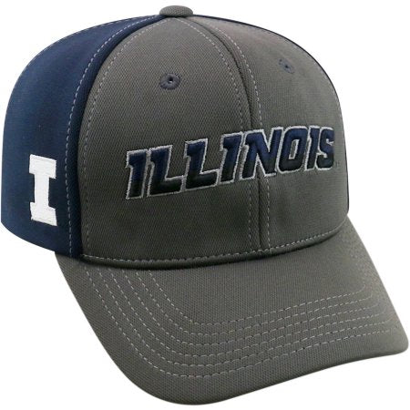 NCAA University of Illinois Fighting Illini Grey Two Tone Baseball Hat \ Cap