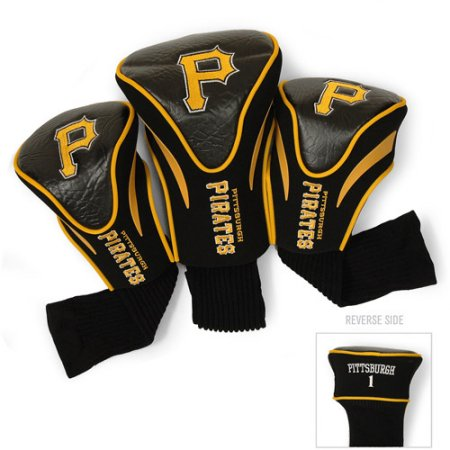 MLB Pittsburgh Pirates 3 Pack Contour Head Covers