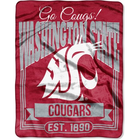 "NCAA Washington State Cougars ""Traction"" 55"" x 70"" Silk Touch Throw"