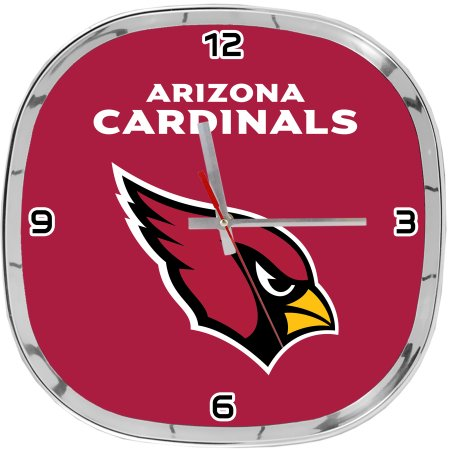 NFL Arizona Cardinals Chrome Clock 12""