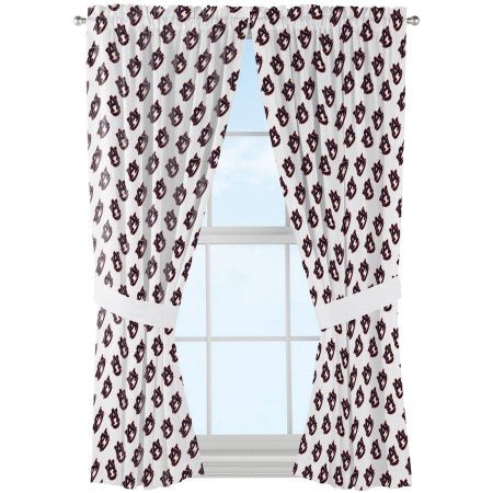 "NCAA Auburn Tigers ""Mascot"" Window Curtain Panels - Set of 2 - 36"" x 48"""