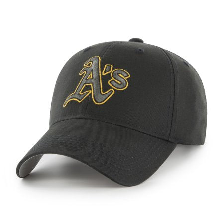 MLB Oakland Athletics Black Mass Adjustable Cap/Hat by Fan Favorite