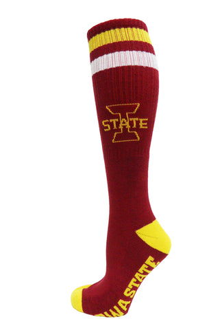 NCAA Iowa State Cyclones Maroon Retro Style Knee-High Tube Socks