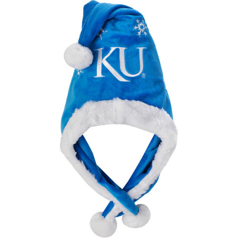 NCAA Kansas Jayhawks Thematic Headwear Santa Hat