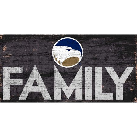 NCAA Georgia Southern Eagles 6'' x 12'' Distressed Wood Family Sign