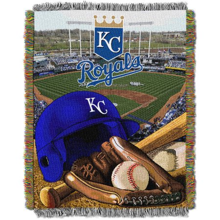 "MLB 48"" x 60"" Home Field Advantage Series Tapestry Throw, Royals"