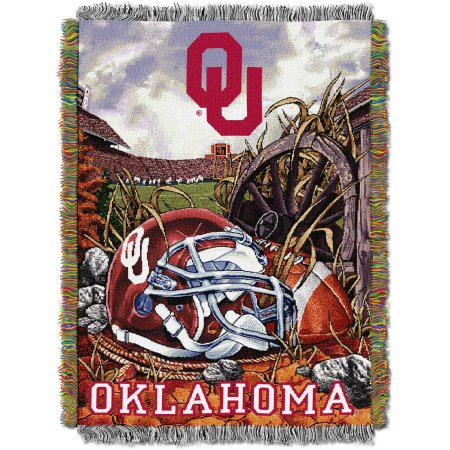 "NCAA 48"" x 60"" Tapestry Throw Home Field Advantage Series- Oklahoma"