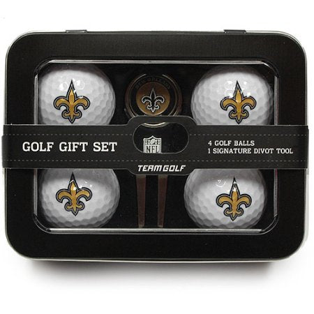NFL New Orleans Saints 4 Golf Ball And Divot Tool Set