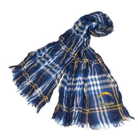 Little Earth - NFL Crinkle Plaid Scarf, Los Angeles Chargers