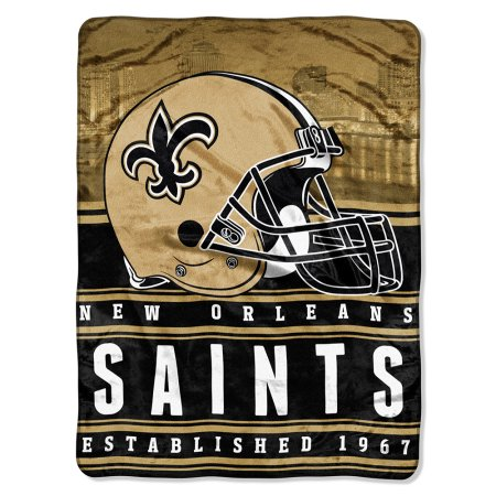 "NFL New Orleans Saints ""Stacked"" 60"" x 80"" Silk Touch Throw"