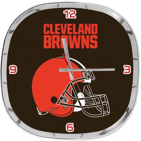 NFL Cleveland Browns Chrome Clock 12""