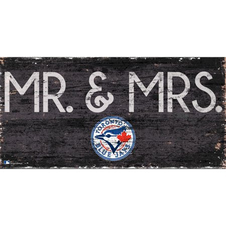 MLB Toronto Blue Jays 6'' x 12'' Mr. & Mrs. Wedding Sign