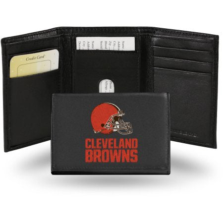 NFL - Men's Cleveland Browns Embroidered Trifold Wallet