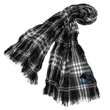 Little Earth - NFL Crinkle Plaid Scarf, Carolina Panthers