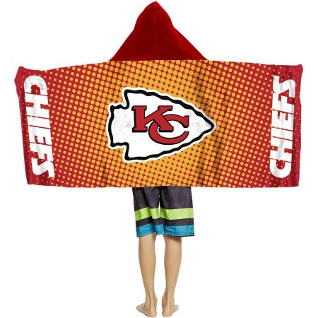 "NFL Kansas City Chiefs ""Dots"" Youth Terry Cloth Hooded Wrap Towel"