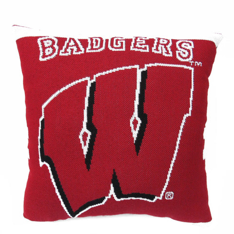 "NCAA Wisconsin Badgers 20"" Square Decorative Woven Pillow"