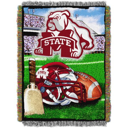 "NCAA 48"" x 60"" Tapestry Throw Home Field Advantage Series- Mississippi State"