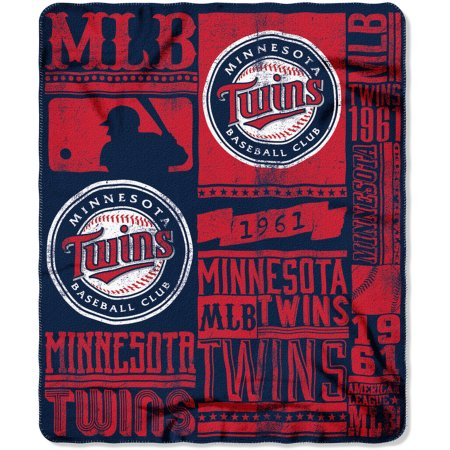 "MLB Minnesota Twins 50"" x 60"" Fleece Throw"