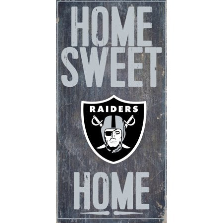 NFL Oakland Raiders 6'' x 12'' Home Sweet Home Sign