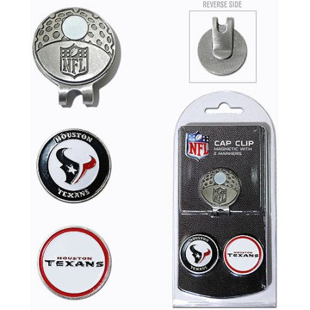 Team Golf NFL Houston Texans Cap Clip With 2 Golf Ball Markers