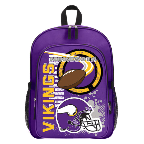 "NFL Minnesota Vikings ""Accelerator"" Backpack and Lunch Bag / Box Set"