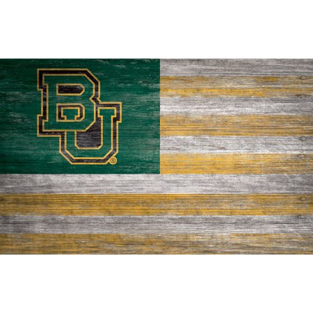 NCAA Baylor Bears 11'' x 19'' Distressed Flag Sign