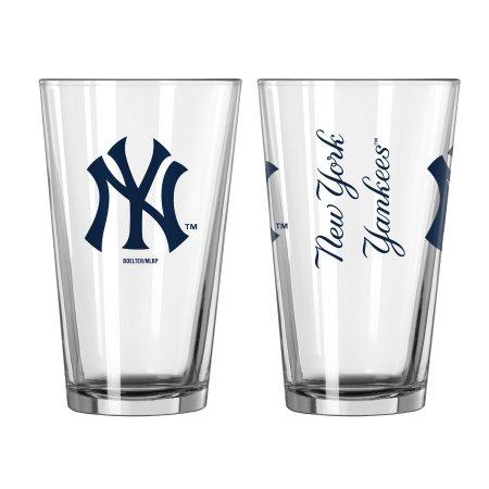Boelter Brands MLB New York Yankees Set of Two 16 Ounce Game Day Pint Glasses