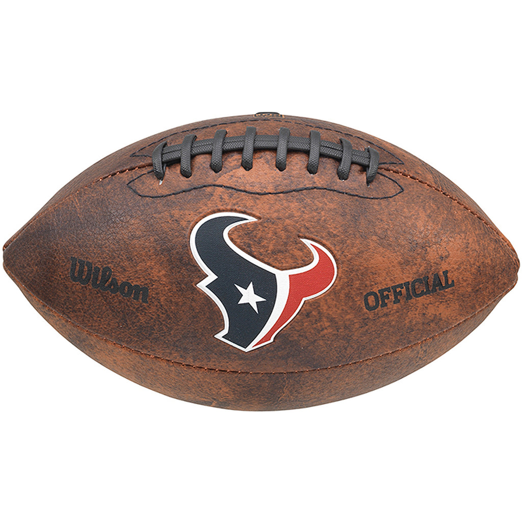 "Wilson NFL Houston Texans 9"" Color Throwback Football"